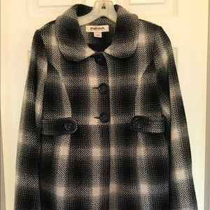 Hydraulic Plaid Wool Jacket